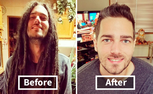 15 Incredible Photos Before And After A Haircut Prove A Good Barber Is Like A Plastic Surgeon